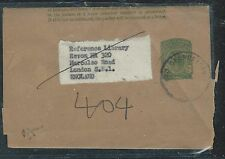 BRITISH GUIANA (PP1906B)  QEII 2C PS WRAPPER VILLAGE  TO ENGLAND
