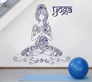 Beauty Girl Tattoo Style Yoga Pose Mediation Wall Vinyl Decal Sticker N919 Ebay