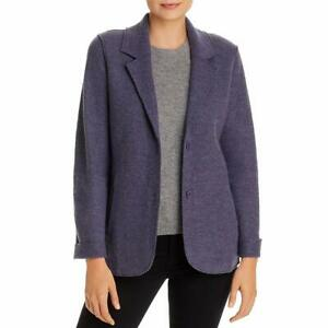 Eileen Fisher Women's Jacket Purple Size Small S Textured Notched $378 #393