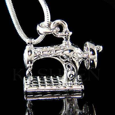 Vintage look 3D Frister Rossmann Sincere Rotary Sewing Machine Necklace Jewelry