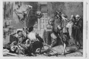1864-FINE-ART-Antique-Print-Tavern-Brawl-John-Gilbert-Water-Colours-140