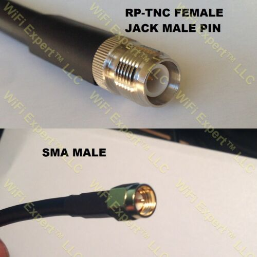 USA-CA LMR400 RP-TNC FEMALE to SMA MALE Coaxial RF Pigtail Cable