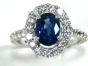 Rare-Blue-Sapphire-Ring-18K-white-gold-Halo-GIA-Insured-Certified-Heirloom-9-98