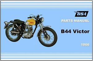 bsa parts manual b44 victor enduro special 1966 replacement spares rh ebay com bsa b44 parts manual BSA 441 Victor Specs