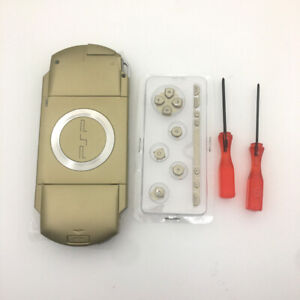 GOLD-Replacement-Shell-Housing-Buttons-screwdriver-Full-Kits-For-Sony-PSP-1000