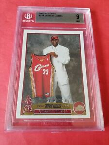LEBRON-JAMES-2003-04-TOPPS-ROOKIE-RC-CARD-221-GRADED-BECKETT-BGS-MINT-9-LAKERS