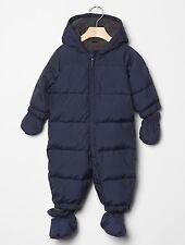 GAP Baby Boys Size 0-6 Months Navy Blue Warmest Snowsuit One-Piece Puffer Coat