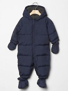 8bea0b476d6e GAP Baby Boys Size 0-6 Months Navy Blue Warmest Snowsuit One-Piece ...
