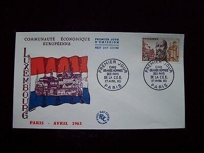 1963_enveloppe 1er Jour_fdc_cÉlÉbritÉs De La Cee-mayrisch (luxembourg).