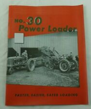 Ih Farmall Tractor H M No 30 Power Loader Front End Manure Hay Brochure