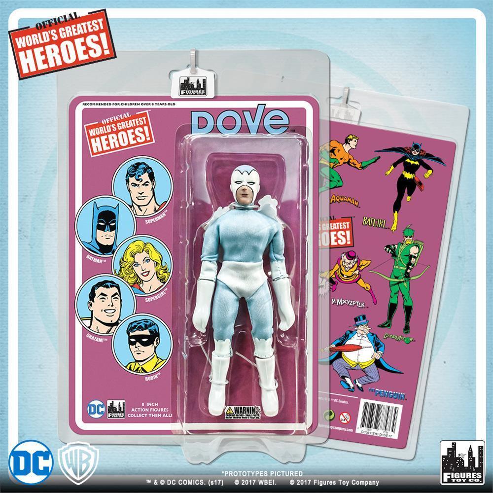 DC Comics Teen Titans Paloma 8 pulgadas figura de acción con tarjeta de estilo retro  nuevo