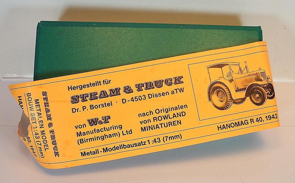 W&t patentadas Steam Steam Steam & Truck 1 43 metallkit Hanomag R 40 tractor en o-box  2847 da3d96
