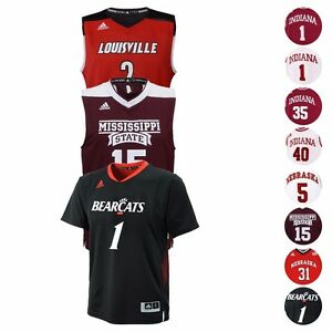 NCAA-Official-Replica-Basketball-Jersey-Collection-by-Adidas-Youth-SZ-S-XL