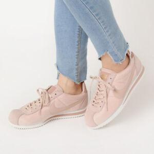 separation shoes f843d 35c6a Details about Nike Women's Sz 9 Classic Cortez Shoe SE Particle Beige  Velvet Pink 902856-202