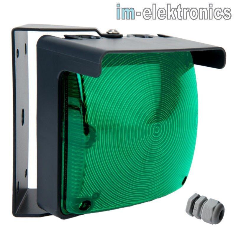 LED Ampel Signalampel grün 24 V oder 230 V Blinkampel Dauerleuchte Tor Antrieb