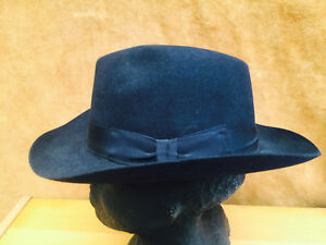 e3253d657f3 Olney Brompton Felt Fedora Hat Fur Felt Hat Black Navy S L XL