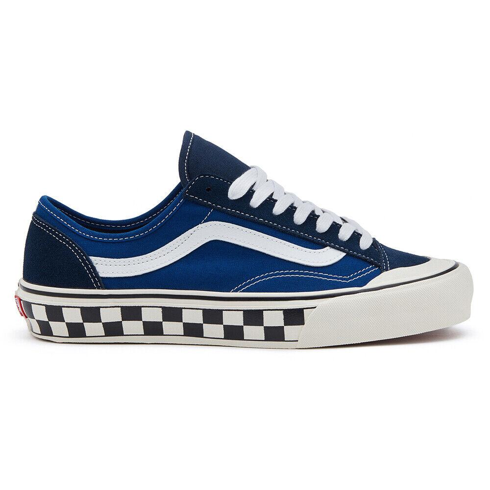 Nuevo Vans Estilo 36 Decon SF de tablero de ajedrez en Azul blancoo Tenis Zapatos 2019