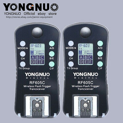 YONGNUO RF-605 Wireless Flash Trigger for Canon EOS 5D Mark III/II, 550D 500D