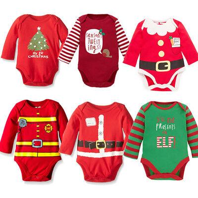 Noël Noël bébé ange Body Vêtements Dress Kids Costume 0-18 Mois