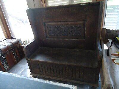 Miraculous Antique Settle Bench Ebay Beatyapartments Chair Design Images Beatyapartmentscom