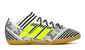 Adidas Men s NEMEZIZ TANGO 17.3 IN Indoor Soccer Shoes White Black ... fbbffe3f2bc