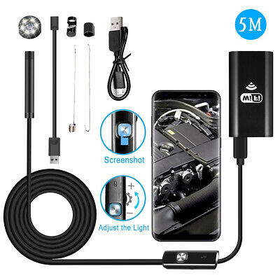 MASO Inspection Cameras 8mm USB Endoscope 1080P HD Industial Borescope Tube 4.3 Inches LCD Screen F200 Waterproof 2M
