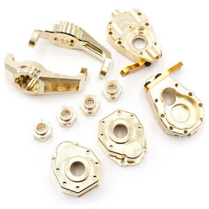 Yeah-Racing-Traxxas-TRX-4-Brass-Parts-Set-Hubs-Knuckles-Hexes-Portal-TRX4-S01