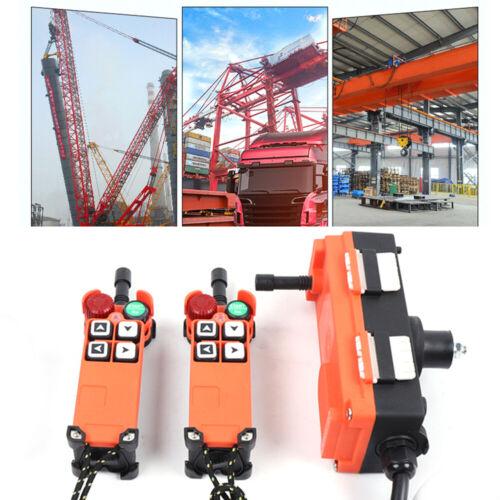 4-Button Industrial Hoist Crane Wireless Remote Controller Transmitter Switch US
