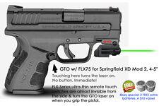 "ArmaLaser GTO for Springfield XD Mod 2 4-5"" S.C. GREEN Laser Sight w/FLX75 Grip"