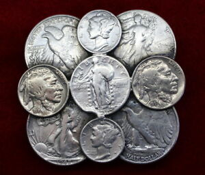 Coin-Money-Belt-Buckle-made-with-US-Coins-mostly-silver-with-Buffalo-nickels