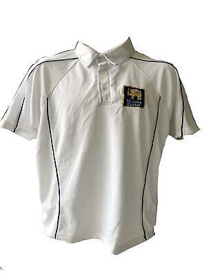 Cricket Shirt White West Indies Logo XXL Men 46-48cm Chest Short Sleeve Sale