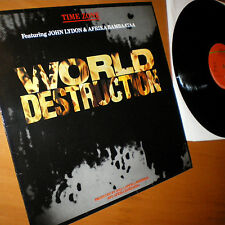 "Time Zone John Lydon Afrika Bambaataa - World Destruction 12"" Vinyl Maxi Single"