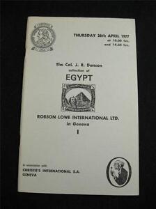 CHRISTIE-039-S-ROBSON-LOWE-AUCTION-CATALOGUE-1977-EGYPT-039-COL-J-R-DANSON-039-COLLECTION