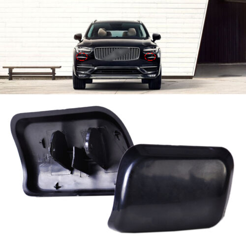Headlight Washer Cover 1 Pair of Headlight Washer Nozzle Cover Car Washer Nozzle Cap 30698209 30698208 for XC90 2003-2006