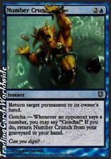 4x Number Crunch // NM // Unhinged // engl. // Magic Gathering