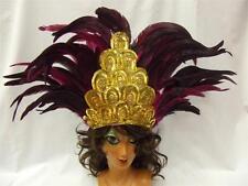 Corista tocado ~ rosa y oro ~ ~ ~ Mardi Gras Carnaval de Sao Salvador