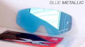 EKS and Beer Optics Blue Mirror ADULT Goggle Lens Anti fog 067-40225 2602-0629