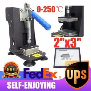 "Electric Rosin Heat Press Machine Dual Heated Plates Rosin Extractor 2/""x3/"" Home"