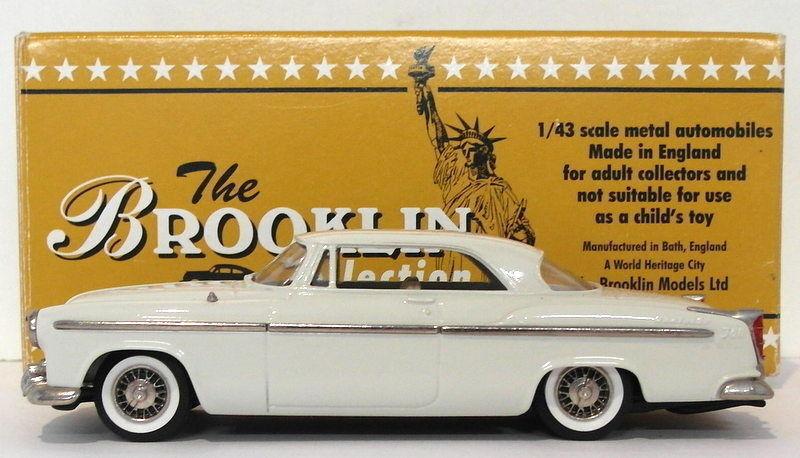 Brooklin maßstab 1  43 brk19a 001 - 1955 chrysler c300 hardtop - coupé Weiß