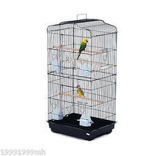 "PawHut 36"" Bird Cage Cockatoo Macaw Play House Parrot Finch 2 Doors Pet Perch"