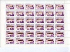 TIMBRE-RUSSIA-RUSSIE-FEUILLE-N-5880-36-TIMBRES-AVION-DIRIGEABLE