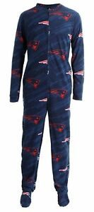 e26ef1c8 Details about New England Patriots NFL Grandstand Union Suit - Pajamas -  One Piece