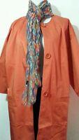 Women's Jacket 8 Small S Coat 3/4 Orange Newport News