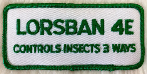 Sew On Farming Vintage 70s LORSBAN 4E INSECTICIDE Embroidered Patch Iron On
