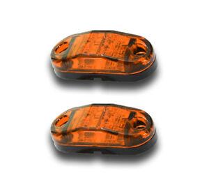 Paar 12V 2 SMD Led Orange Bernstein Begrenzungsleuchten für Iveco DAF Mann
