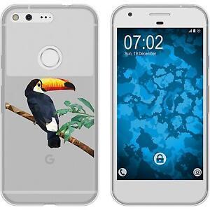Case-fuer-Google-Pixel-Silikon-Huelle-Vektor-Tiere-M5-2-Schutzfolien