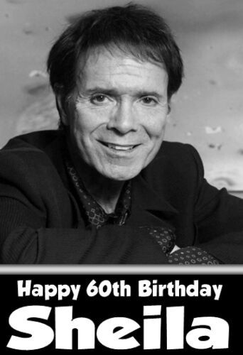 Cliff Richard Iconic Personalised Birthday Card Any Name Age