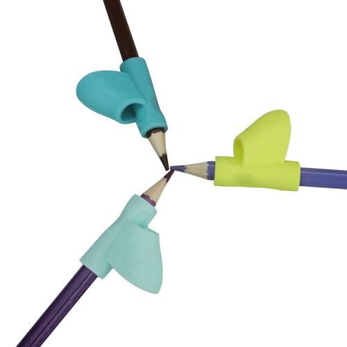 3PC Children Pencil Holder Pen Writing Aid Grip Posture Correction Device Tool e