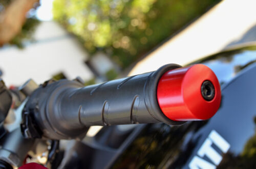 Black Ducati Billet Crash Handlebar Bar End Ends Diavel