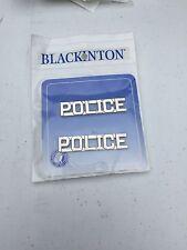POLICE Collar Brass 1/2 Inch Nickel Plate Police Combo Blackinton J116 New